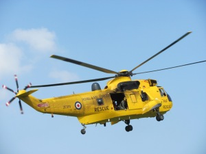 Sea King coming in to land