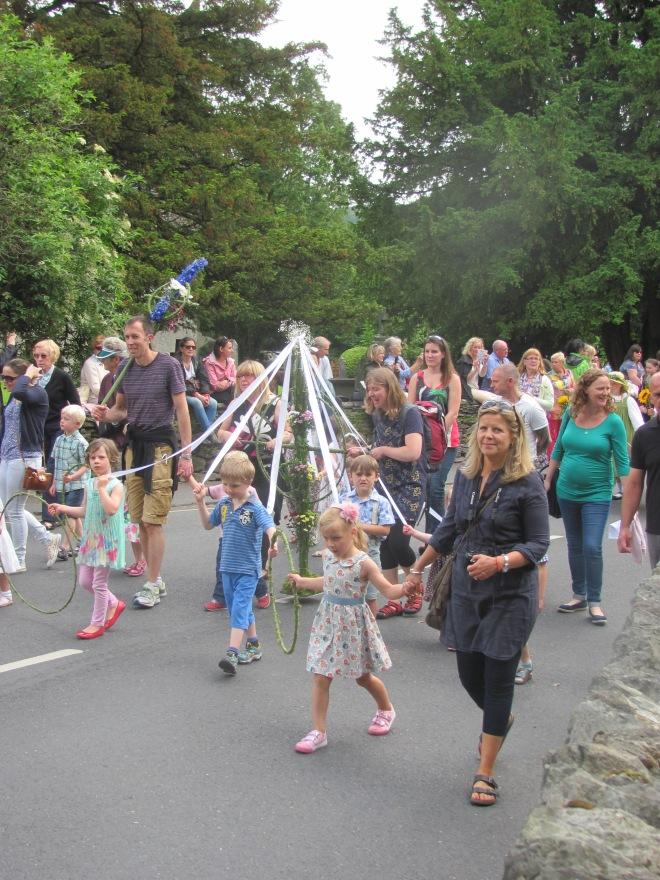 Children enjoy the parade