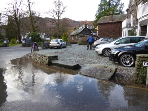 Flood water Grasmere