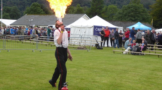 Fire eating Grasmere